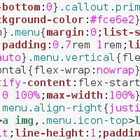 Snippet of CSS