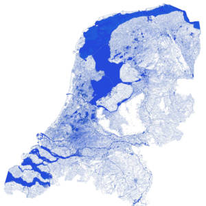 Water map of Netherlands